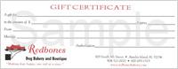 Redbones Gift Certificates
